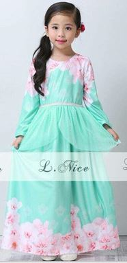 DAISY PEPLUM JUBAH DRESS TURQOISE