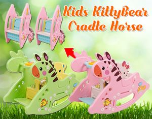 Kids KittyBear Cradle Horse