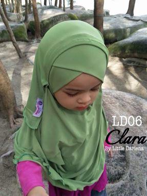 CLARA Instant Shawl - LD06 ( Green ) +Free Pin Tudung
