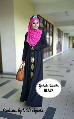 JUBAH ARMILA BLACK
