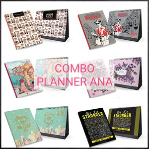 Planner 2021 🔥 COMBO Planner Ana + Desk Calendar Exclusive TRENDY DESIGN