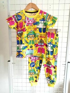 Pyjamas ROBOCAR POLI Yellow :  Big Size 12 -18