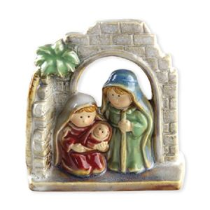 Porcelain Color - Glazed Nativity House
