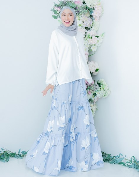 NUR 2.0 PEACE SKIRT IN DUSTY BLUE