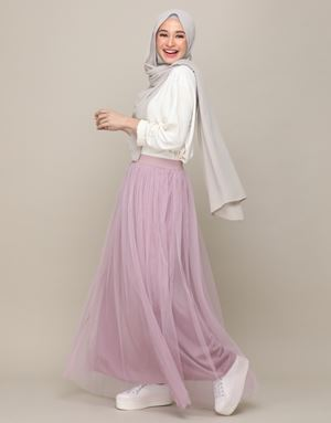 SYATY TULLE SKIRTS IN DUSTY MAUVE