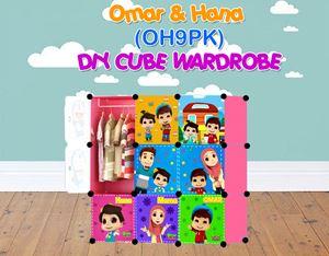 Omar & Hana PINK 9C DIY WARDROBE (OH9PK)