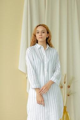 Audilea Long Blouse (Pearl White)