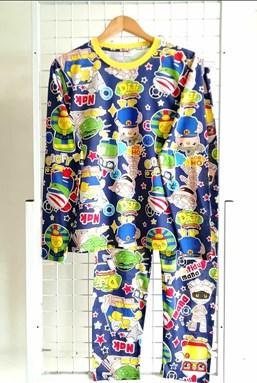 SIZE XL - 3XL DEWASA   Pyjamas DIDI AND MUMMY DARK BLUE (GL)