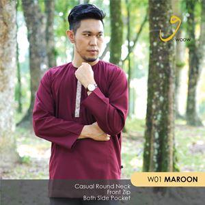 WOOW Shirt - W01 Maroon