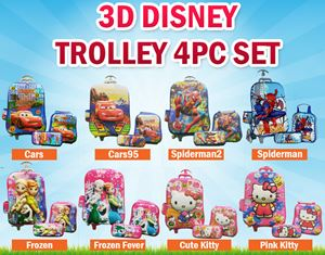3D Disney Trolley 4PC Set