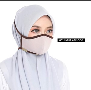 FACEMASK 2PLY - LIGHT APRICOT 011