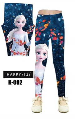 K002   FROZEN KIDS LEGGING  ( SIZE 100-150 )