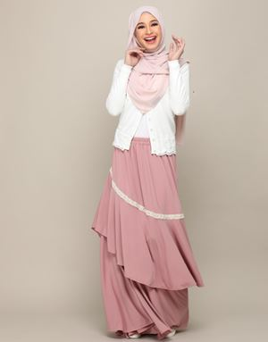 MIRANDA SKIRT IN DUSTY PINK