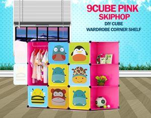 Skiphop Pink 9C DIY Cube w Corner Rack (SK9CP)