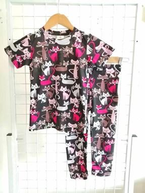 Pyjamas CAT FRIENDS BLACK :  Kids 1/2 - 7/8