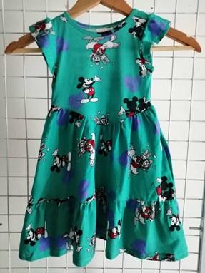 Princess Dress V2 : GREEN MICKEY LOVE size  4-6
