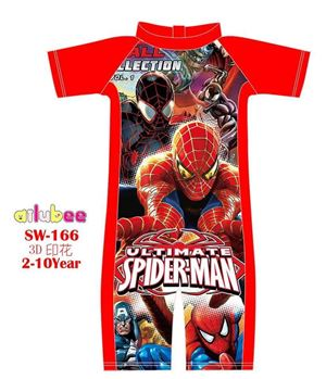@  SW166 AILUBEE SPIDERMAN RED SWIMMING SUIT ( SZ 2-10Y )