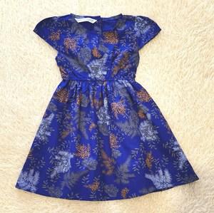 [12M , 4Y  - 7Y] Baby and Kids Dress AZURE BLUE Brand KF