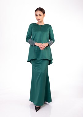 Nalea Doll Kurung (Emerald Green)
