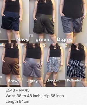 E540 Ready stock *Waist 38 to 48 inch/96-122cm