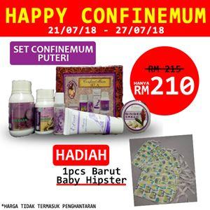 HAPPY CONFINEMUM PUTERI 21/07/18-27/07/2018