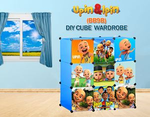 NEW Upin & Ipin BLUE 9C DIY Cube Wardrobe (BB9B)