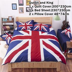 CARTOON BED SHEET ENGLAND King Size Bed (8 inch height) (FITTED) N00357 READY STOCK