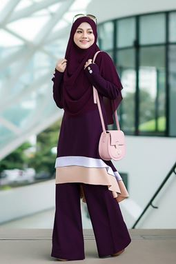 BLOUSE NAURA - PURPLE