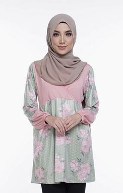 Ella Misaki (QM124)  Blouse - Only size M and 2XL available