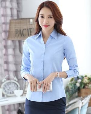 V-Neck Long-sleeve Shirt