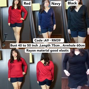 A9 *Ready Stock *Bust 40 to 50 inch  / 101- 127cm