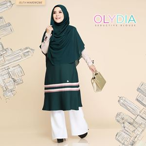 OLYDIA SEDUCTIVE BLOUSE (EMERALD GREEN)