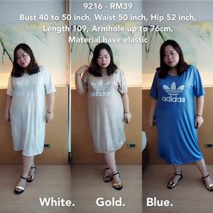 9216 Ready Stock *Bust 40 to 50 inch/ 102-127cm