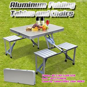 Portable Aluminum Folding Tables and Chairs...