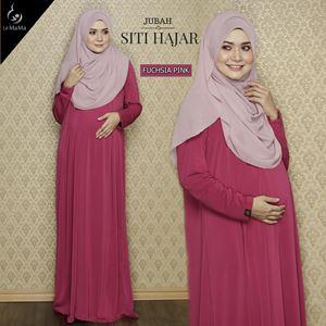Jubah Siti Hajar : Fuchsia Pink