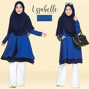 BLOUSE ISSABELLE - NAVY DENIM