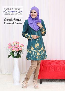 Camelia Blouse Emerald Green