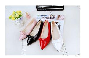 Women Flat PU Ribbon Shoes - DESIGN 2 ( 9682 )