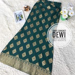 Skirt Songket Dewi Emerald Green