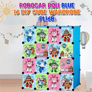 RoboCar Poli Blue 16C DIY Cube Wardrobe (PL16B)