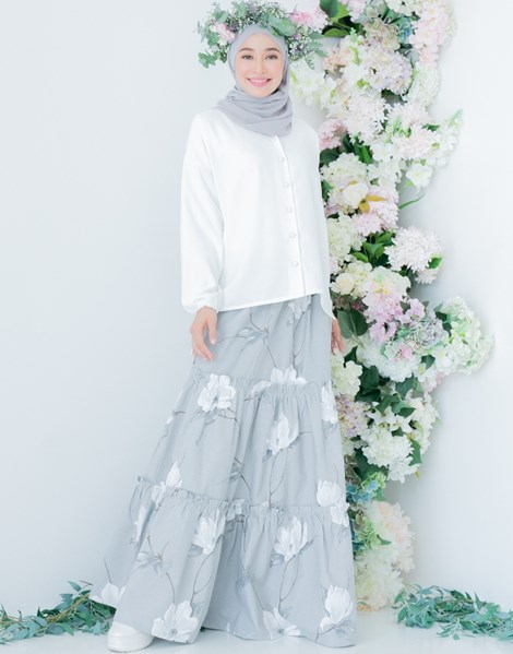 NUR 2.0 PEACE SKIRT IN GREY