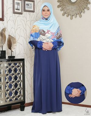 Siti Aafiyah Dress : Navy Blue