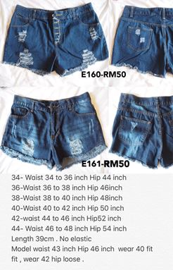 E160  Ready stock *Waist 34 to 48 inch
