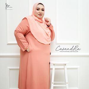 02 CASANDRA FASHIONABLE BLOUSE (Soft Peach)