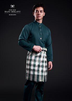 Baju Melayu For Him (Dark Green)