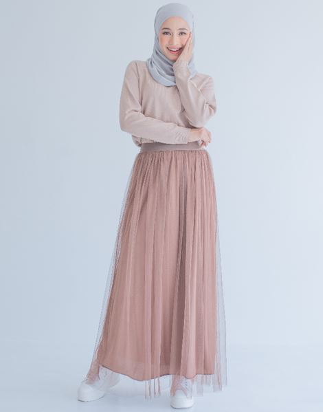 SYATY TULLE SKIRTS IN BROWN