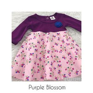 SALE Aisya Dress ( Purple Blossom ) XXS shj (PALING KECIL)