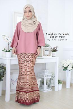 Kurung Songket Fareeda Dusty Pink