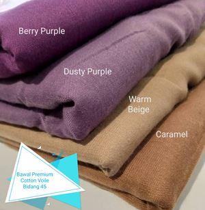 Bawal Premium Cotton Voile Bidang 45 (9)Warm Beige