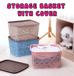 STORAGE BASKET WITH COVER